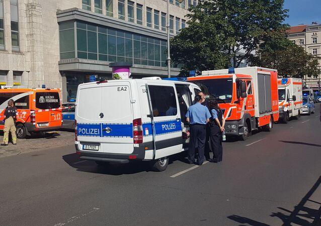 Lugar del ataque a un centro comercial en Berlín