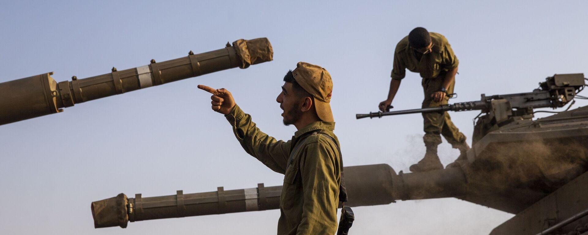 Израильские солдаты на контролируемых Израилем Голанских высотах - Sputnik Mundo, 1920, 17.03.2021