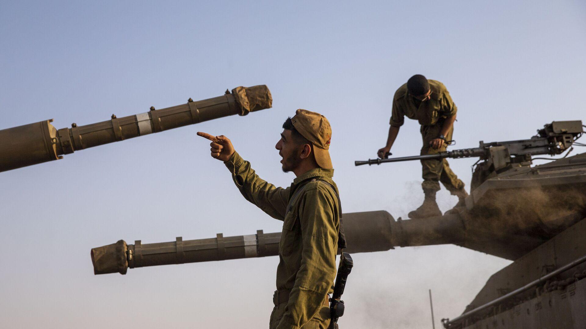 Израильские солдаты на контролируемых Израилем Голанских высотах - Sputnik Mundo, 1920, 11.03.2021