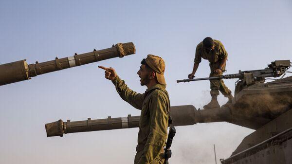 Soldados de Israel en los Altos del Golán, bajo control israelí - Sputnik Mundo