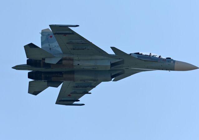 Un caza ruso Su-30SM