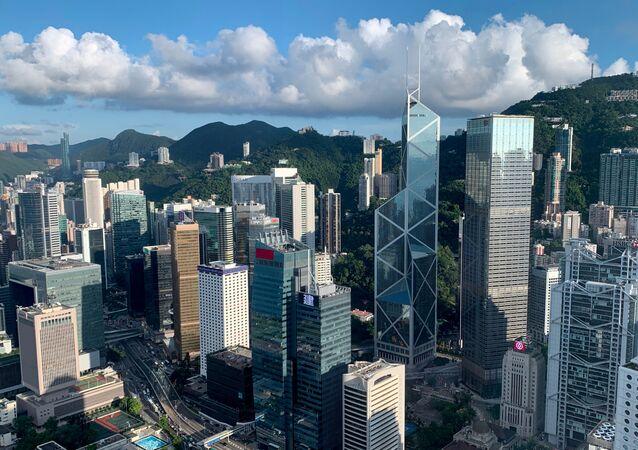 Vista general sobre el distrito central de Hong Kong