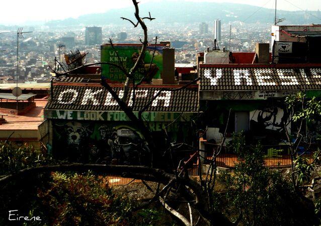 Una casa 'okupada' en Barcelona (referencial)