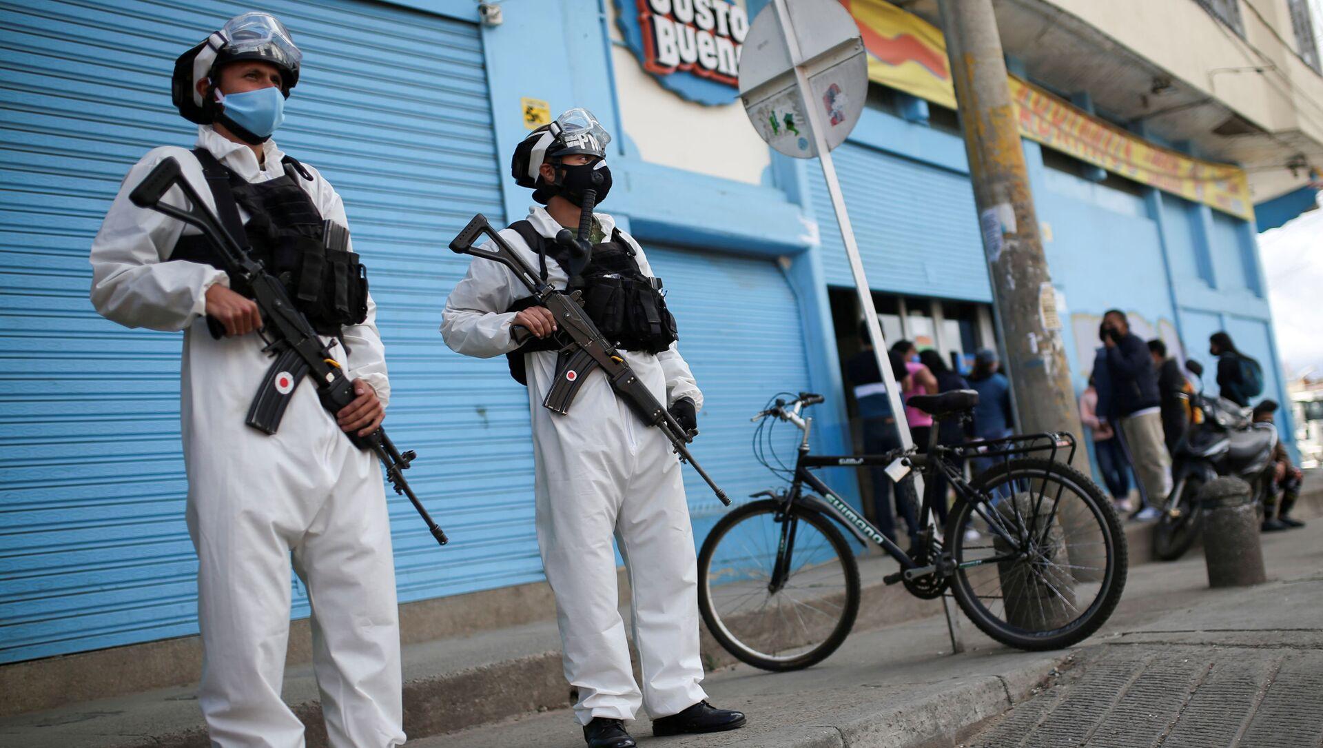 Agentes de la Policía militar de Colombia - Sputnik Mundo, 1920, 05.08.2020