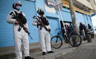Agentes de la Policía militar de Colombia