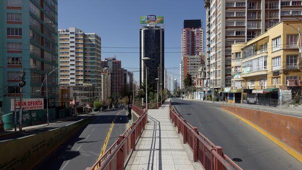 Una avenida vacía en La Paz - Sputnik Mundo