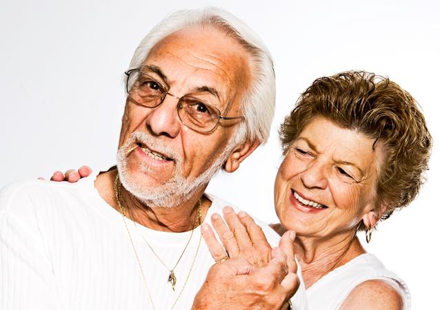 Una pareja de ancianos, imagen referencial