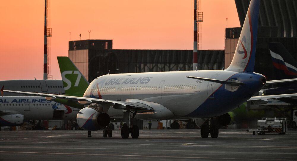 Un Airbus А321 de la compañía rusa Ural Airlines (archivo)