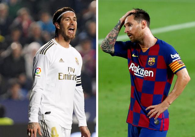 Sergio Ramos, futbolista español, y Lionel Messi, futbolista argentino