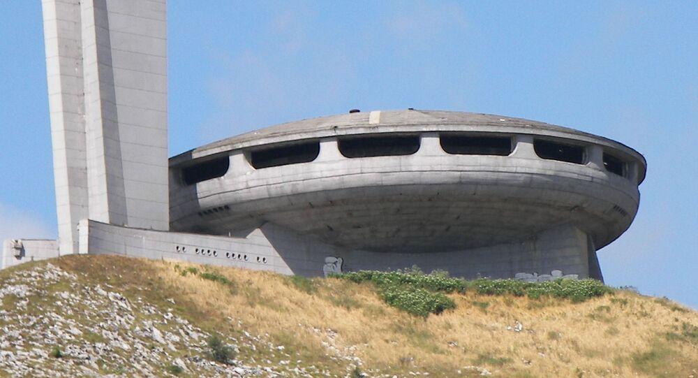 La Casa del Partido Comunista Búlgaro en el pico Buzludzha