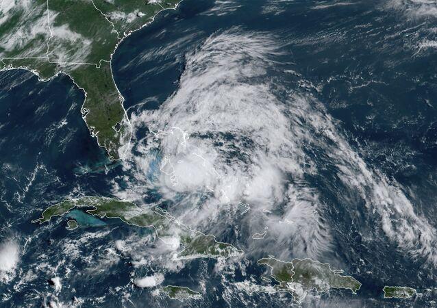 El huracán Isaías