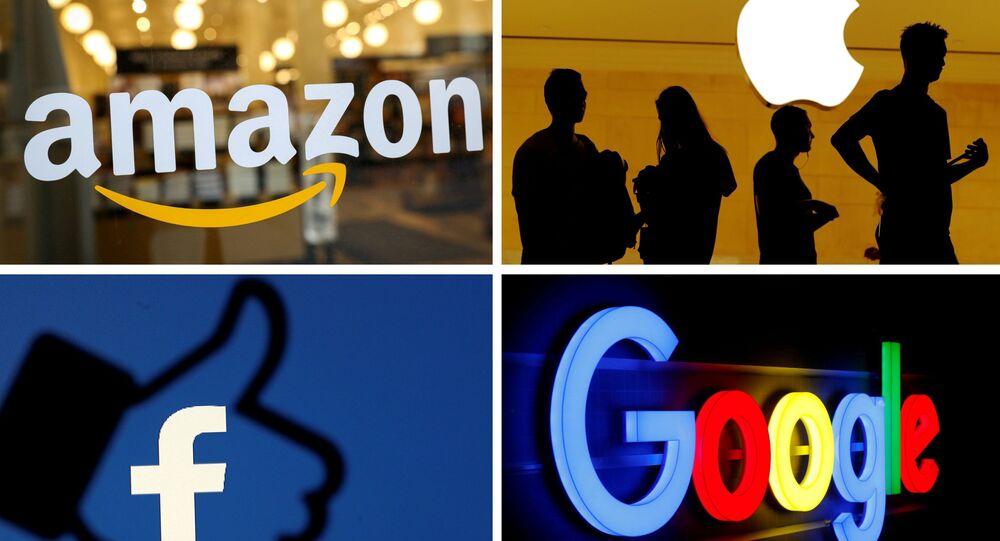 Logos de Apple, Amazon, Facebook y Google