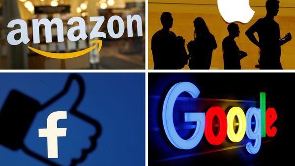 Logos de Apple, Amazon, Facebook y Google - Sputnik Mundo