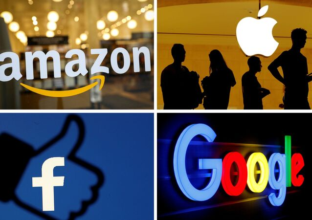 Logos de Apple, Amazon, Facebook y Google