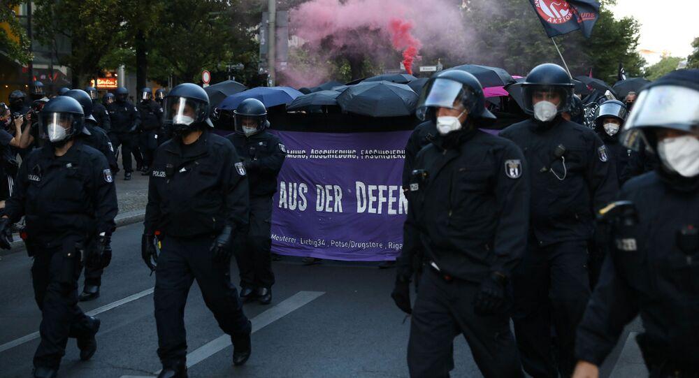 Protestas en Berlín contra las medidas restrictivas del COVID-19