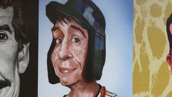 Una pintura en homenaje al Chavo del 8, uno de los personajes de Roberto Gómez Bolaños, el Chespirito - Sputnik Mundo