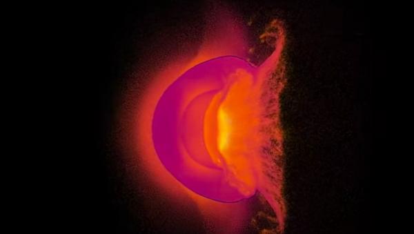 Una simulación de una colisión planetaria - Sputnik Mundo