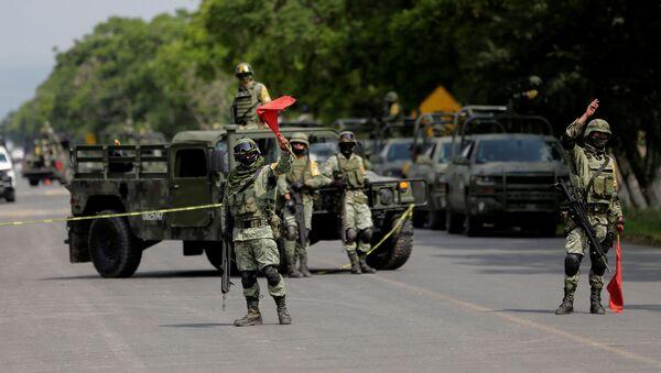 Las fuerzas de la Guardia Nacional tras la detención de José Antonio Yépez Ortiz, 'El Marro' - Sputnik Mundo