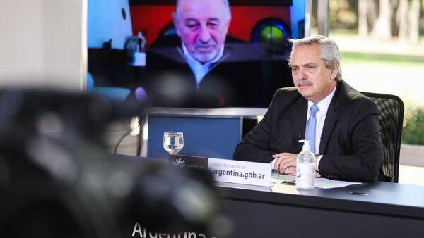 Presidente de Argentina, Alberto Fernández, durante anuncio de nueva etapa del programa de ATP - Sputnik Mundo