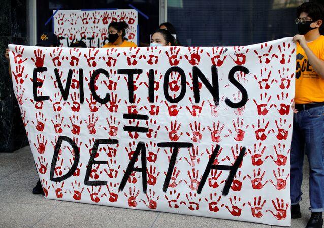 Protestas contra desalojos en EEUU