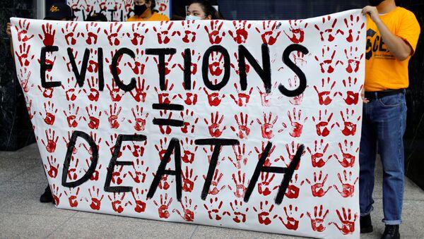 Protestas contra desalojos en EEUU - Sputnik Mundo