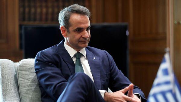 Kyriakos Mitsotakis, primer ministro de Grecia - Sputnik Mundo