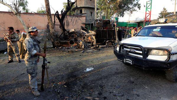 Fuerzas de seguridad afganas en el lugar del ataque contra una prisión en la ciudad de Jalalabad  - Sputnik Mundo