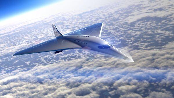 El futuro avión supersónico de Virgin Galactic (ilustración) - Sputnik Mundo