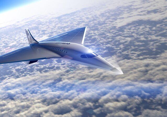 El futuro avión supersónico de Virgin Galactic (ilustración)