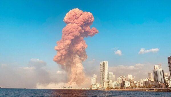 La explosión en Beirut. - Sputnik Mundo
