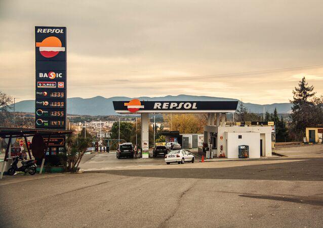 Imagen referencial de una Gasolinera de Repsol