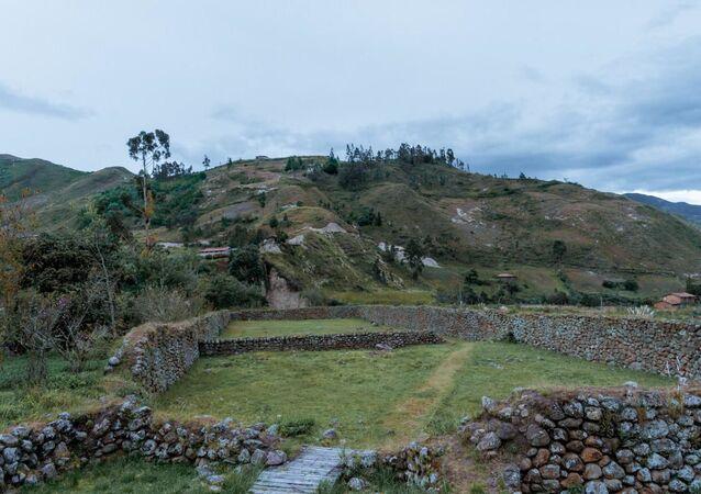 Vestigios de la fortaleza del cacique Cañari Duma, que se enfrentó al Ejército Inca a mediados del siglo XV