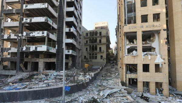 Edificios destruidos en Beirut - Sputnik Mundo