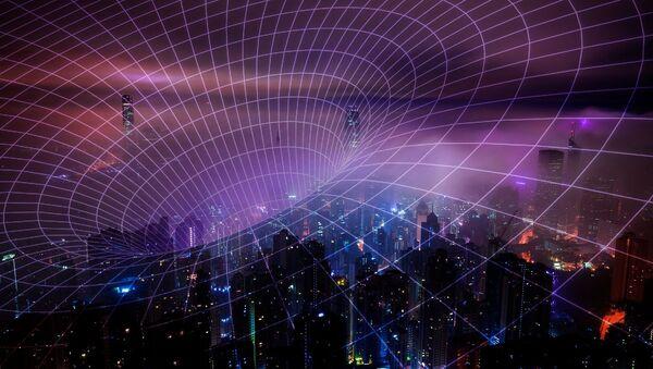 Una representación artística de la radiación de la tecnología 5G - Sputnik Mundo