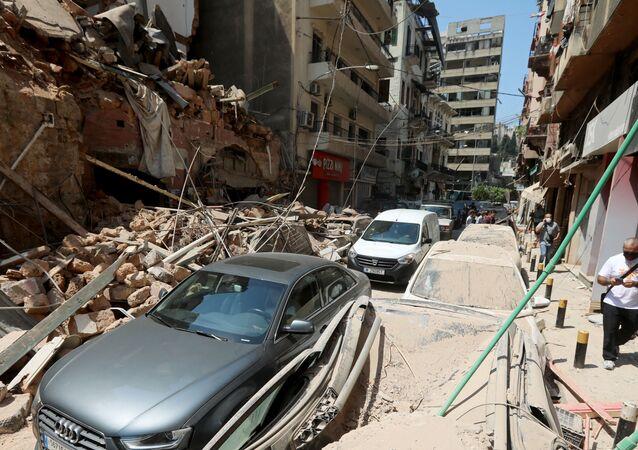 Consecuencias de la explosión en el puerto libanés de Beirut