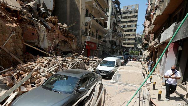Consecuencias de la explosión en el puerto libanés de Beirut - Sputnik Mundo