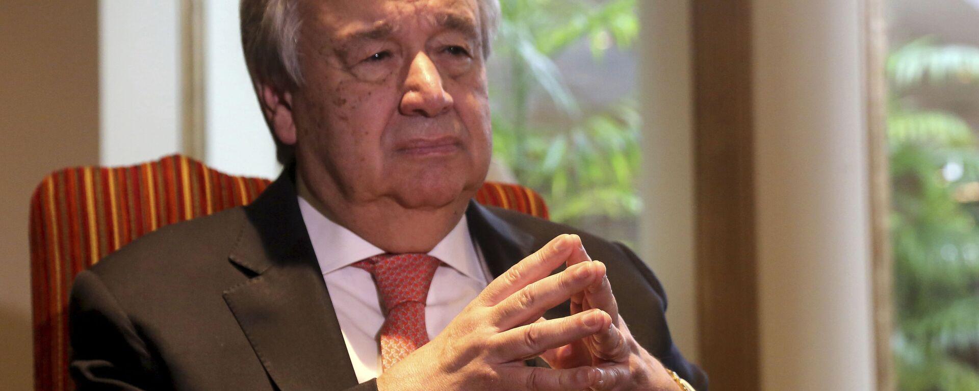 António Guterres, secretario general de la ONU - Sputnik Mundo, 1920, 05.05.2021