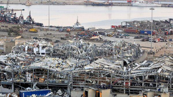 Consecuencias de la explosión en el puerto de Beirut, Líbano - Sputnik Mundo