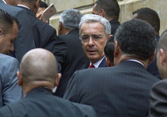 Álvaro Uribe, senador y expresidente colombiano