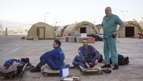 Rescaristas rusos en el Líbano - Sputnik Mundo