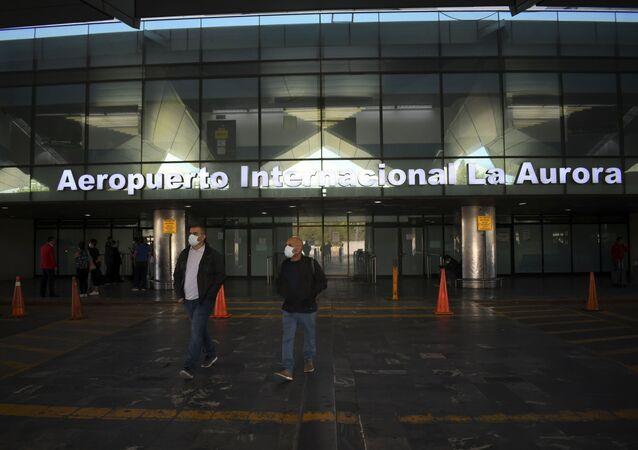 El aeropuerto internacional de La Aurora en Guatemala