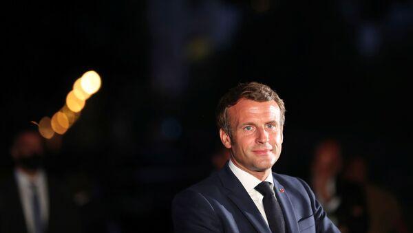 Presidente de Francia, Emmanuel Macron, en El Líbano - Sputnik Mundo