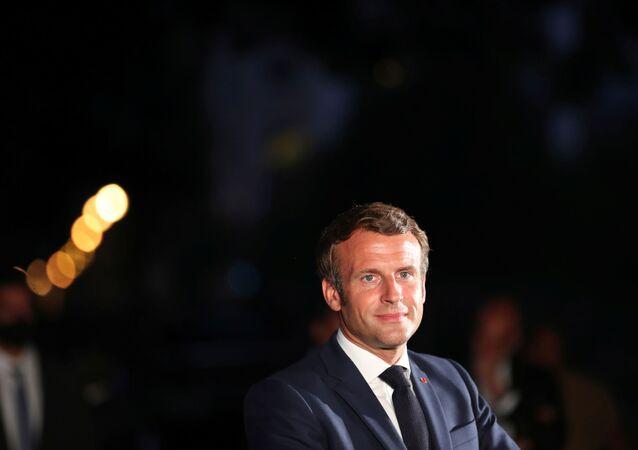 Presidente de Francia, Emmanuel Macron, en El Líbano