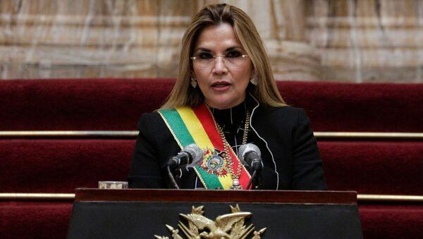 Jeanine Áñez, presidenta transitoria de Bolivia - Sputnik Mundo
