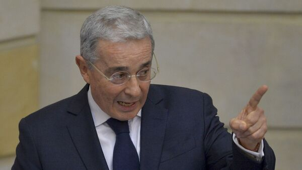 Álvaro Uribe, senador y expresidente colombiano - Sputnik Mundo