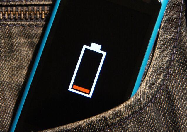 Batería baja en un smartphone