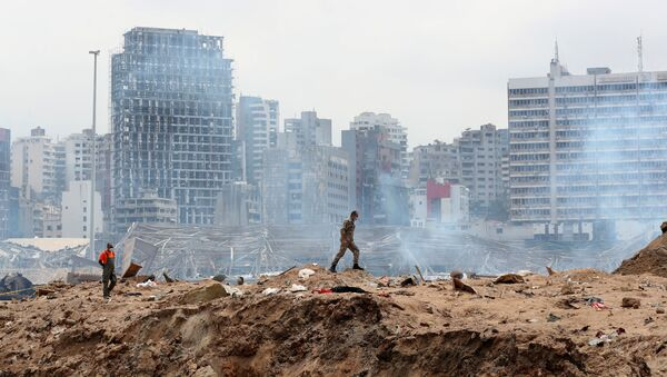 Consecuencias de la explosión en Beirut, Líbano - Sputnik Mundo