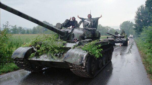 Un tanque del Ejército croata después del fin de la Operación Tormenta - Sputnik Mundo