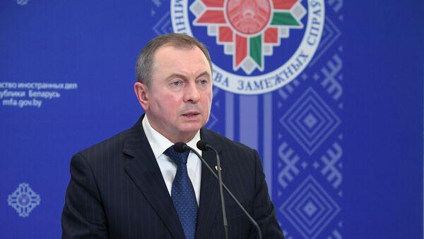 El canciller bielorruso, Vladímir Makei - Sputnik Mundo