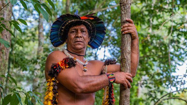 Indígena guaraní en Brasil - Sputnik Mundo